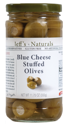 Jeff's Naturals - Blue Cheese Stuffed Olives