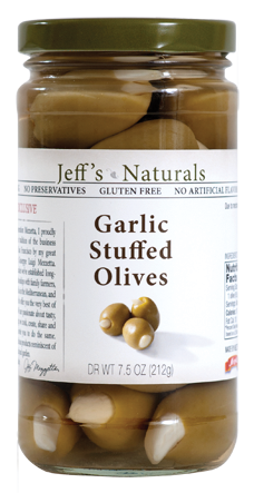Jeffs Naturals Garlic Stuffed Olives