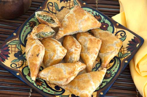 Spinach and Feta Olive Turnovers