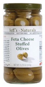 Jeffs Naturals Feta Cheese Stuffed Olives