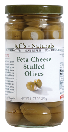 Jeff's Naturals Feta Cheese Stuffed Olives