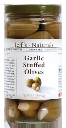 Jeff's Natural Garlic Stuffed Olives