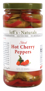 Jeffs Naturals Sliced Hot Cherry Peppers