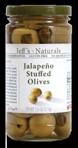 Jeffs Naturals Jalapeño Stuffed Olives
