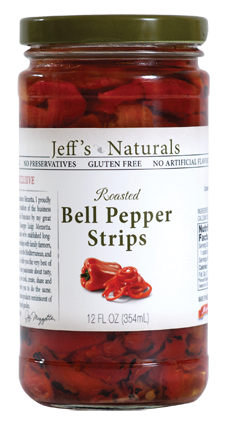 Jeff's Naturals Roasted Bell Pepper Strips