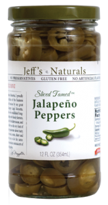 Jeffs Naturals Sliced Tamed Jalapeños