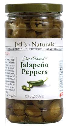 Jeff's Naturals Sliced Tamed Jalapeño Peppers