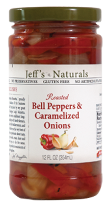 Jeff's Naturals Roasted Red Bell Peppers and Caramelized Onions