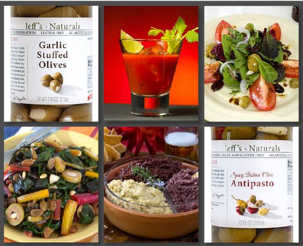 Jeff's Naturals Garlic Olives Antipasto