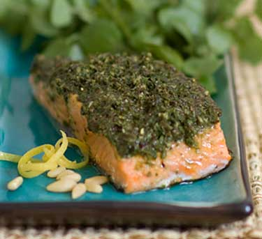 Encrusted-Salmon-with-Olive-Pesto