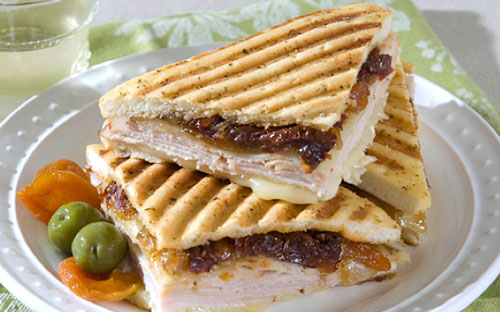 Autumn Apricot & Turkey Panini