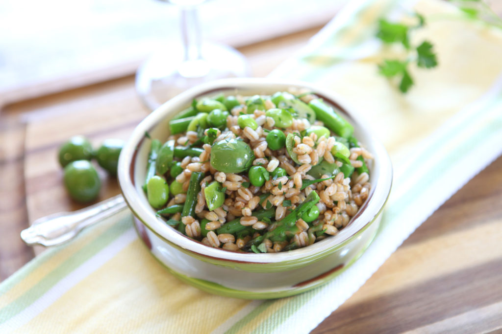 Spring Farro and Castelvetrano Salad full size