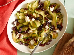 Zucchini Ribbons with Jeff's Naturals Organic Pitted Kalamata Olives & Sundried Tomatoes