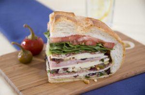 New! Muffuletta Sandwich with Jeff's Naturals Organic Kalamata & Stuffed Olives