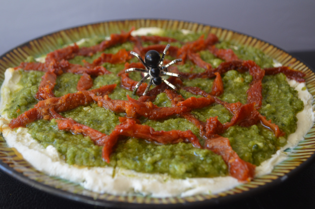sundried-tomato-spider-web-pesto-dip
