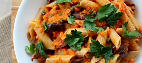 Roasted Tomato Sauce with Pasta- Photo @Vegetarianmamma.