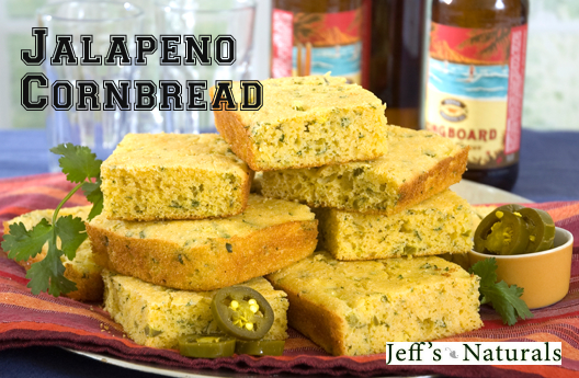 This Jalapeño Cornbread is the perfect side dish with Chili or your favorite soup! Cut into squares or wedges and serve with butter or a black pepper-flavored honey.
