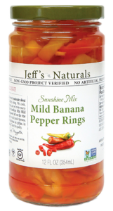 Jeff's Naturals Sunshine Mix Mild Banana Pepper Rings