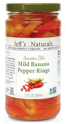 Jeff's Naturals Sunshine Mix Sliced Mild Banana Pepper Rings