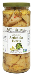 Jeffs Naturals Marinated Artichoke Hearts