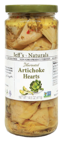 Jeff's Naturals Marinated Artichoke Hearts