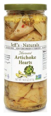 Jeff's Naturals Marinated Artichoke Hearts