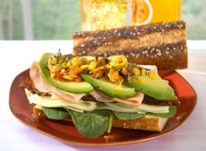 Napa Style Hero Sandwich with Jeff's Naturals Sunshine Mix Mild Banana Pepper Rings