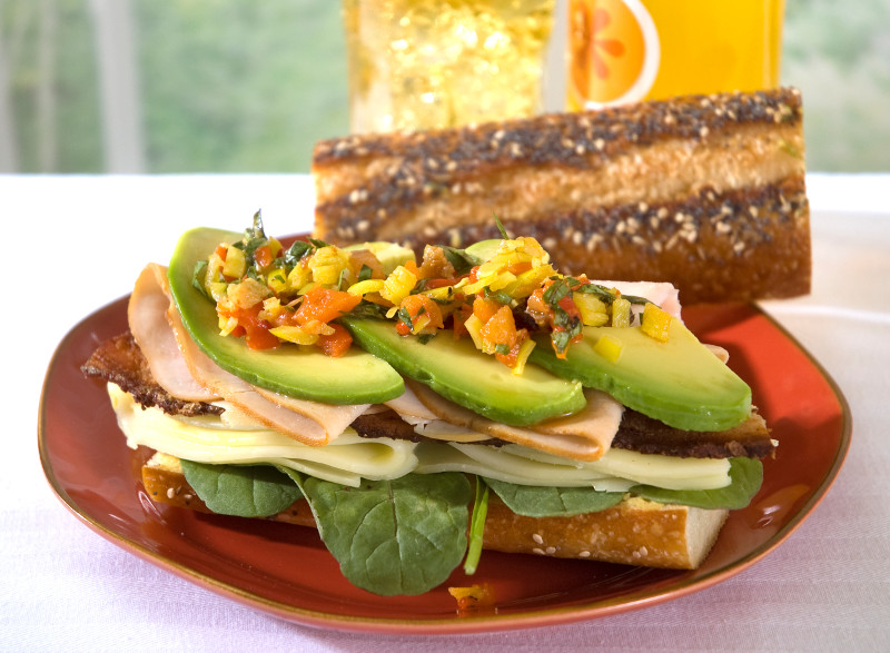 Napa Style Hero Sandwich with Jeff's Naturals Sunshine Mix Mild Banana Pepper Rings