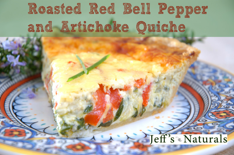 Roasted Red Bell Pepper & Artichoke Quiche