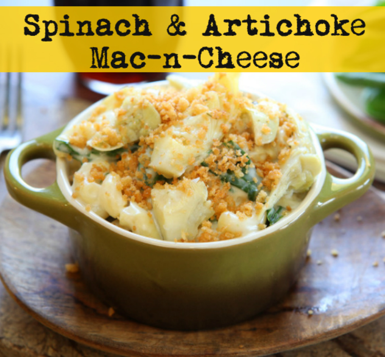 Spinach and artichoke mac n Cheese