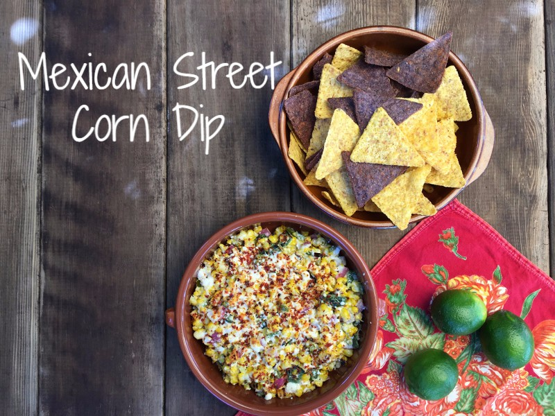 "Delicious & Hot Mexican Street Corn Dip In honor of Cinco de Mayo this week, we wanted to introduce a new Southwest/Mexican inspired recipe that is simple to make and darn delicious!  Serve warm with chips along with a fresh margarita and your guests will be chanting ""mas mas mas!"""