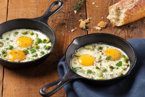 Baked Eggs with Olives