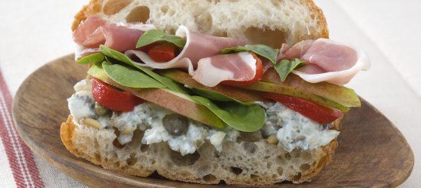 Prosciutto Pear Sandwich