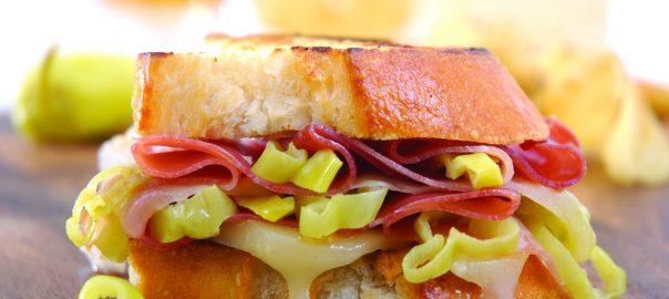 Prosciutto, Provolone & Peperoncini Grilled Sandwiches