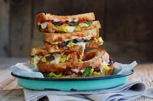 Jeff's Naturals: Mediterranean Grilled Cheese