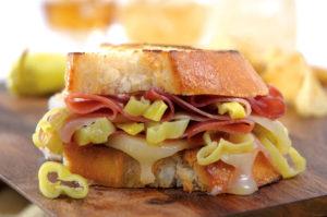 Jeff's Naturals: Prosciutti, Provolone & Peperoncini Grilled Sandwich