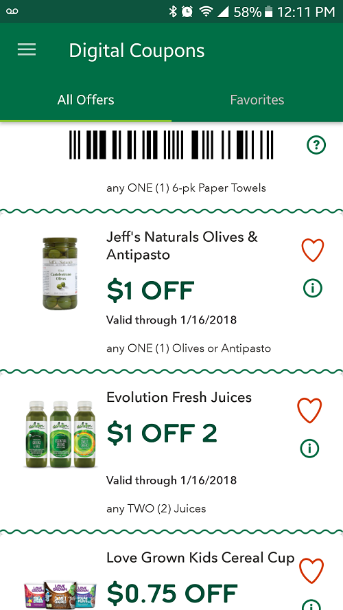 Whole Foods Digital Coupon Jeff's Naturals