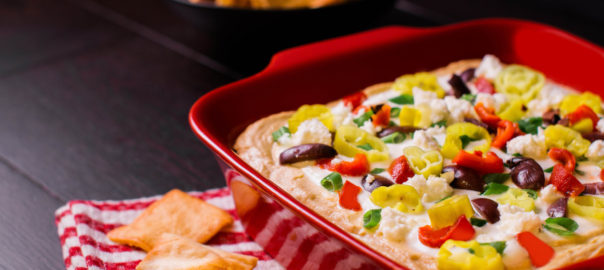 Greek 7-Layer Dip with Peperoncini
