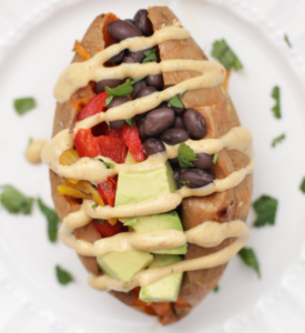 Black Bean & Chipotle Stuffed Potato
