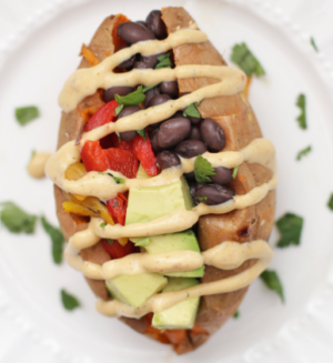 Black Bean & Chipotle Stuffed Potato