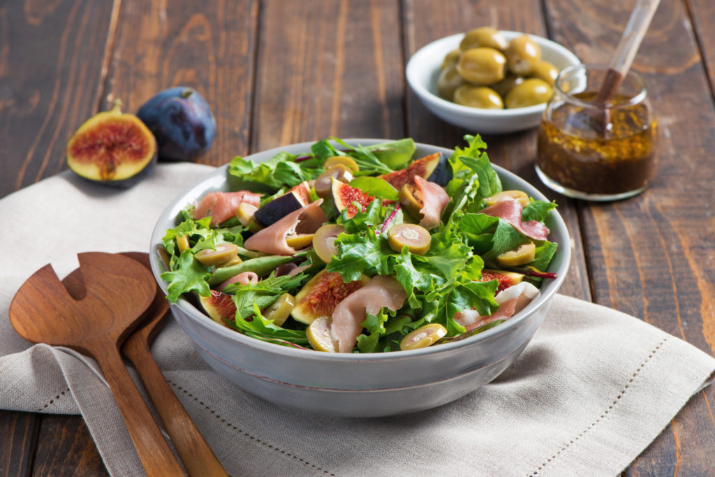 Fig Salad with Blue Cheese Olives