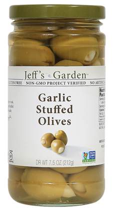 Jeffs Garden Garlic Stuffed Olives