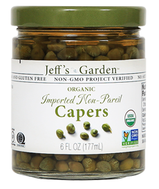 Jeff's Garden Organic Imported Non-Pareil Capers