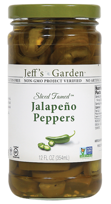 Jeff's Garden Sliced Tamed Jalapeño Peppers