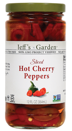 Jeffs Garden Sliced Hot Cherry Peppers