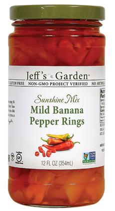 Jeff's Garden Sunshine Mix Mild Banana Pepper Rings