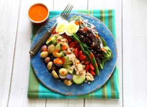 Salad Nicoise with Roasted Red Pepper Dressing