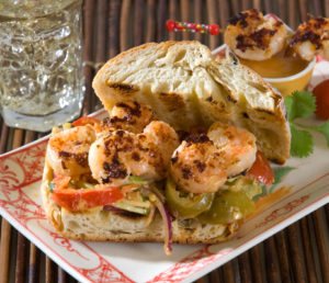 Sunset Shrimp Sandwich