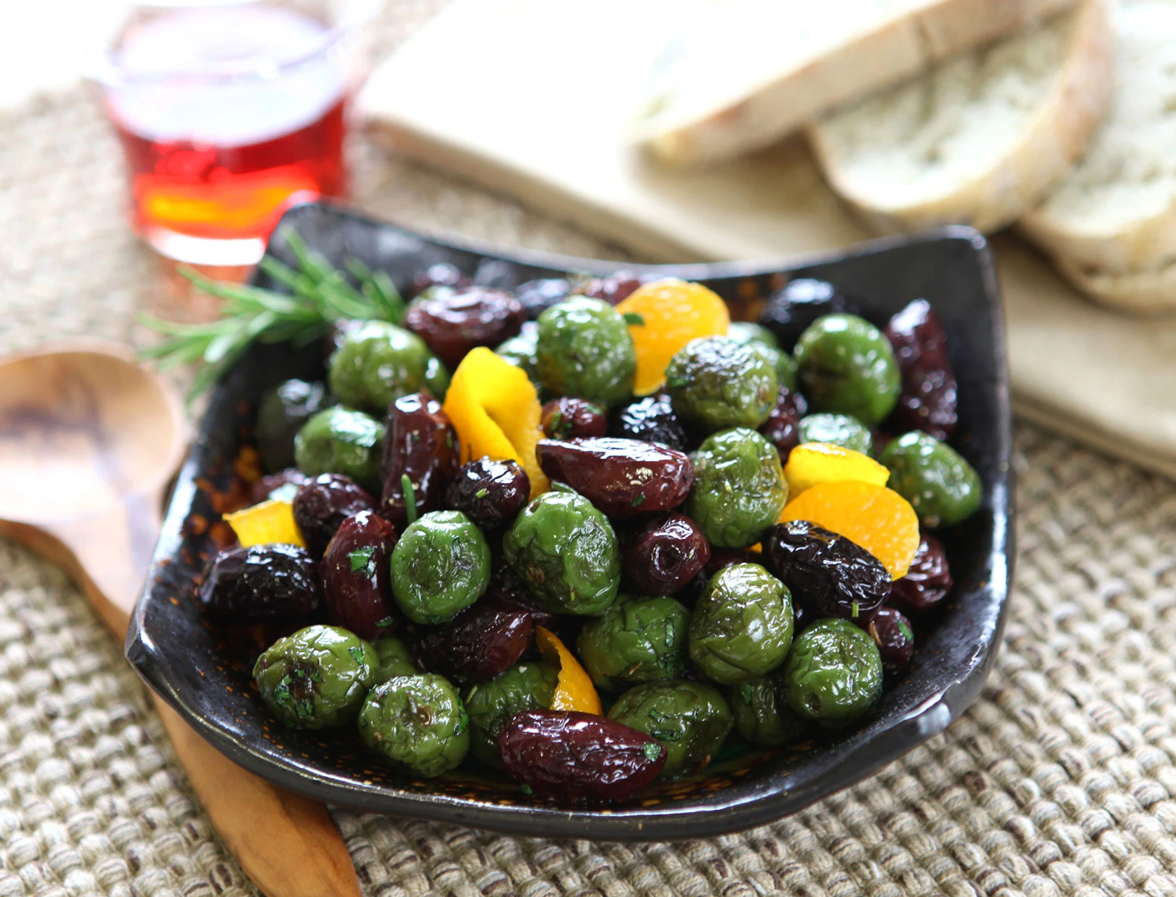 Roasted Olives with Herbs & Citrus